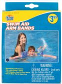 32 Units of SWIM ARM BANDS 8 X 8 INCH ASSORTED COLORS/ DESIGNS AGES3-6 PREPRICED $3.99 - Summer Toys