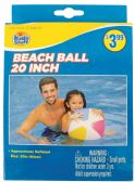 36 Units of BEACH BALL 20 INCH ASSORTED COLORS AGES 4+ PREPRICED $3.99 - BEACH TOYS