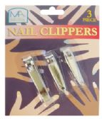 48 Units of NAIL CLIPPER SET 3 PIECE ASSORTED SIZES