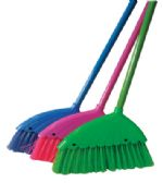 36 Units of ANGLE BROOM 12 INCH WITH 43 INCH METAL HANDLE ASSORTED COLORS