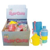 48 Units of BABY CARE ACCESSORIES 4 ASSORTED IN DISPLAY - DRINKING CUP/ 2 PK BOTTLE BRUSHES/ BABY WIPE CASE AND 3 LAYER DRINK AND SNACK HOLDER