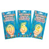 72 Units of NUMBER BIRTHDAY CANDLES 3 INCH WITH CAKE DECORATION NUMBERS 0-9 - Candles & Accessories