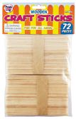 48 Units of WOODEN CRAFT STICK 72 PIECES 4.5 INCH