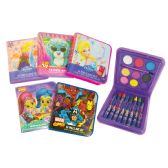 24 Units of LICENSED ART SET 18 PIECE INCLUDES 8 CRAYONS/ 9 WATERCOLORS/ 1 PAINTBRUSH AGES 3+ ASSORTED DESIGNS