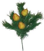 72 Units of PINE BUSH WITH BEADED FRUIT 12 INCH ASSORTED PREPRICED $2.99