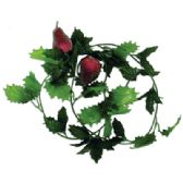 144 Units of BEADED HOLLY FRUIT GARLAND 6 FEET ASSORTED STYLES PREPRICED $2.99