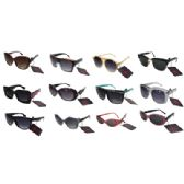 144 Units of SUNGLASSES ASSORTED DESIGNS AND COLORS