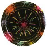 120 Units of HALLMARK DESSERT PLATE 8 PK 6.75 INCH NEW YEAR'S DESIGN - New Years