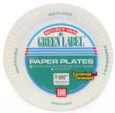 12 Units of NATURE'S OWN PAPER PLATE 100 COUNT 9 INCH