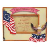 48 Units of PHOTO FRAME 3 X 5 INCH ASSORTED PATRIOTIC DESIGNS