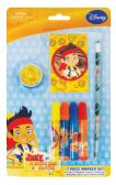 48 Units of DISNEY JAKE AND THE NEVERLAND PIRATES MARKER SET 7 PC INCLUDES MARKERS/PENCIL/PENCIL SHARPENER/ PAD