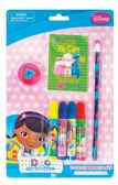 48 Units of DISNEY DOC MCSTUFFINS MARKER SET 7 PC INCLUDES MARKERS/PENCIL/PENCIL SHARPENER/PAD