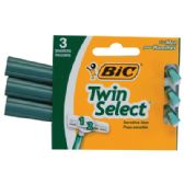 72 Units of BIC TWIN SELECT RAZOR 3 PACK GREEN