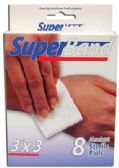 36 Units of SUPER BAND STERILE PADS 8 COUNT 3 X 3 INCH BOXED - First Aid and Bandages