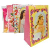 144 Units of FELIZ QUINCE ANOS GIFT BAG 17 X 22 X 6 INCH SUPER JUMBO 4 ASSORTED DESIGNS
