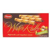 18 Units of MINUET WAFER ROLLS 2.65 OZ HAZELNUT CREAM IN DISPLAY - Food & Beverage