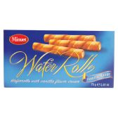 18 Units of MINUET WAFER ROLLS 2.65 OZ VANILLA CREAM IN DISPLAY - Food & Beverage