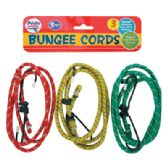 36 Units of BUNGEE CORDS 3 PACK 3 FEET ASSORTED COLORS