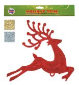 36 Units of HANGING DECORATION OF REINDEER 11 X 12 INCHES ASSOTED COLORS