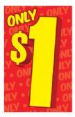 100 Units of SHELF TALKER 2 X 4 INCH ONLY 1 DOLLAR