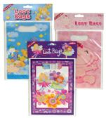 144 Units of BABY LOOT BAGS 10 PC ASSORTED DESIGNS