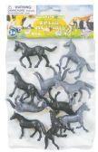 48 Units of HORSES 2 INCH PLASTIC 10 PACK ASSORTED - Animals & Reptiles