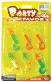 24 Units of KEY CHAINS PLASTIC 6 PACK - Key Chains