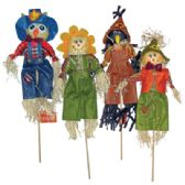 36 Units of FALL SCARECROW DECORATIONS 16 INCH ASSORTED DESIGNS PREPRICED $0.97