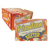 90 Units of PRIME TIME MICROWAVE POPCORN 2.2 OZ BUTTER FLAVOR IN SHELF DISPLAY MADE IN USA