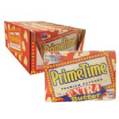 90 Units of PRIME TIME MICROWAVE POPCORN 2.2 OZ EXTRA BUTTER FLAVOR IN SHELF DISPLAY MADE IN USA