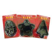 84 Units of MINI BAKING PAN NON STICK ASSORTED SHAPES (STAR/TREE/SANTA) - Christmas Novelties