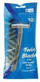 48 Units of FINE EDGE MEN'S TWIN BLADE BLACK RAZOR 10 PK WITH LUBRICATING STRIP - Shaving Razors