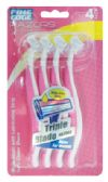 48 Units of FINE EDGE WOMEN'S TRIPLE BLADE RAZOR 4 PK WITH LUBRICATING STRIP