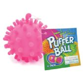 48 Units of PUFFER BALL 4 INCH WATER MINE DESIGNS ASSORTED COLORS IN DISPLAY - Light Up Toys