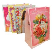 48 Units of FELIZ QUINCE ANOS GIFT BAG 8 X 11 X 4 INCH MEDIUM 4 ASSORTED DESIGNS