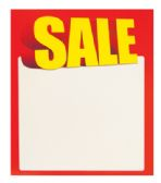 100 Units of SHELF TALKER SALE 4.25 X 3.65 INCH - Signs & Flags