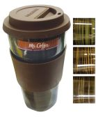 8 Units of MR. COFFEE TRAVEL MUG 16 OZ CERAMIC ASSORTED COLORS IN DISPLAY