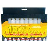48 Units of CANDLES 10 PK 4 INCH ALL PURPOSE KOSHER SHABBAT
