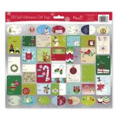 36 Units of CHRISTMAS GIFT TAGS 120 COUNT SELF ADHESIVE IN DISPLAY ASSORTED