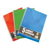 36 Units of SPIRAL NOTEBOOK 150 SHEET 8 X 10.5 INCH 5 SUBJECT WIDE RULED - Notebooks