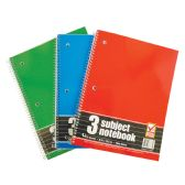 48 Units of SPIRAL NOTEBOOK 3 SUBJECT 120 SHEET 10.5 X 8 INCH WIDE RULED - Notebooks