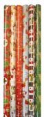 60 Units of CHRISTMAS GIFT WRAP 40 SQFT 30 INCHESX16 FEET TRADITIONAL MEMORIES ASSORTED DESIGNS - Christmas Gift Bags and Boxes