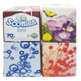 24 Units of SCOTTIES FACIAL TISSUE 70 2-PLY SHEETS