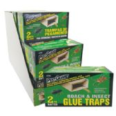 15 Units of PEST GUARD GLUE TRAPS 2 PK ROACH AND INSECT IN DISPLAY