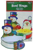 192 Units of CHRISTMAS BOWL WRAP 2 PACK 18x12 INCH