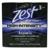 18 Units of ZEST FOR MEN BAR SOAP 3 PK 3.2 OZ EACH HIGH INTENSITY ATOMIC SCENT MADE IN USA
