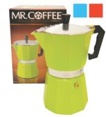 6 Units of MR COFFEE ESPRESSO MAKER AST COLORS 6 CUP