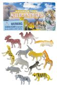 48 Units of JUNGLE ANIMALS PLASTIC 2 INCH 12 PACK ASSORTED - Animals & Reptiles
