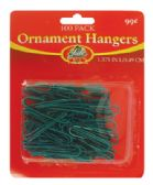 60 Units of CHRISTMAS ORNAMENT HANGERS 100 PACK PREPRICED $0.99