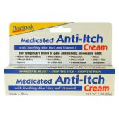 24 Units of MEDICATED ANTI-ITCH CREAM 1 OZ WITH VITAMIN E AND ALOE - First Aid and Bandages